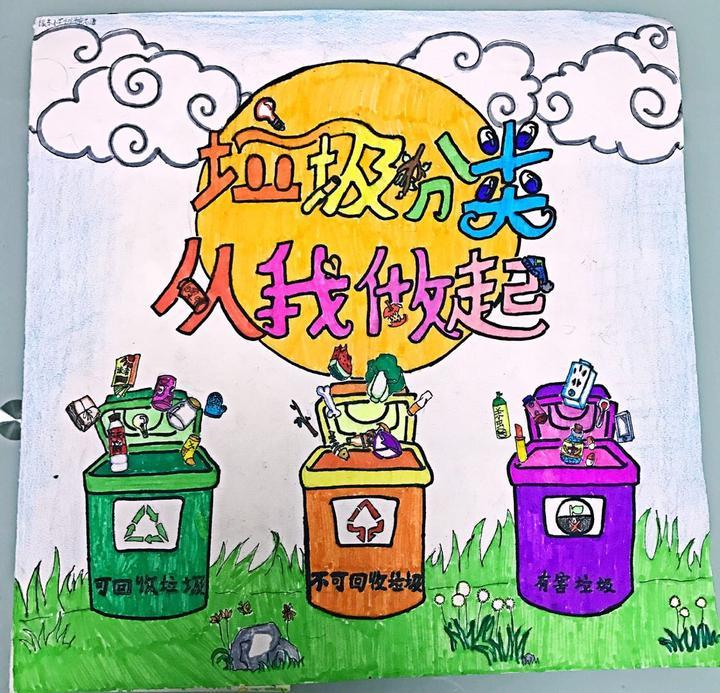 嘉兴生活垃圾分类公益宣传画展示第期