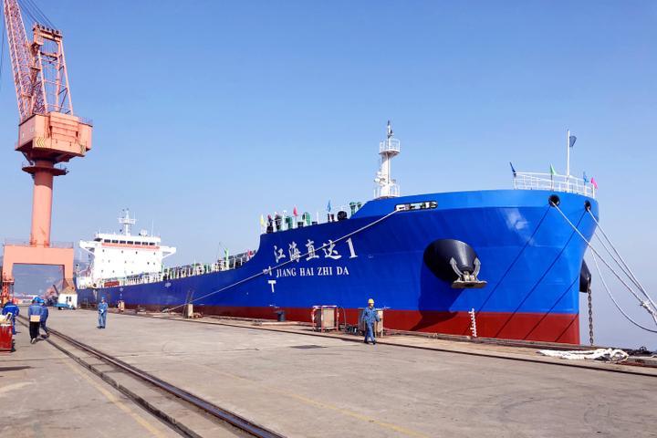 海事护航 国内首艘江海直达船踏上首航之旅