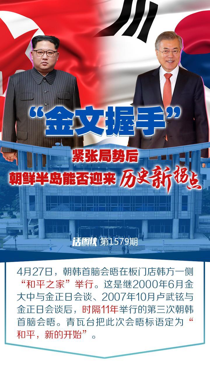 """""""金文握手"""":紧张局势后,朝鲜半岛能否迎来历史新拐点"""