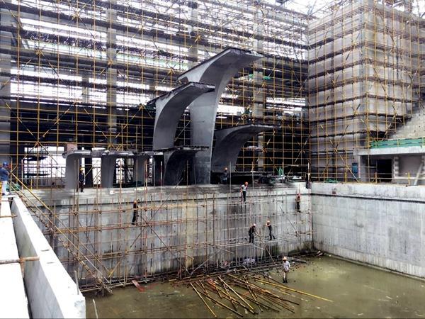 宁波奥体中心游泳馆8月竣工建筑业10项新技的锤子重力图纸图片
