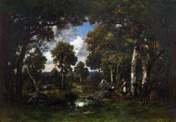 """本次展出表现法国田园牧歌的19世纪现实主义风景油画""""巴比松派""""代表"""