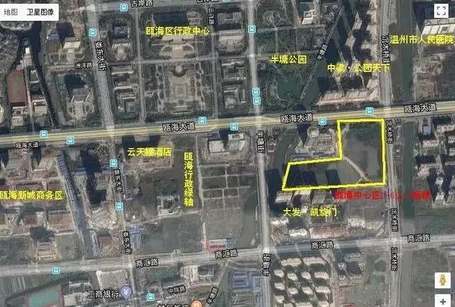 该地块为瓯海中心南单元d-06,d-08地块,出让总面积53473.
