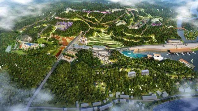 天顶湖山地运动中心鸟瞰效果图
