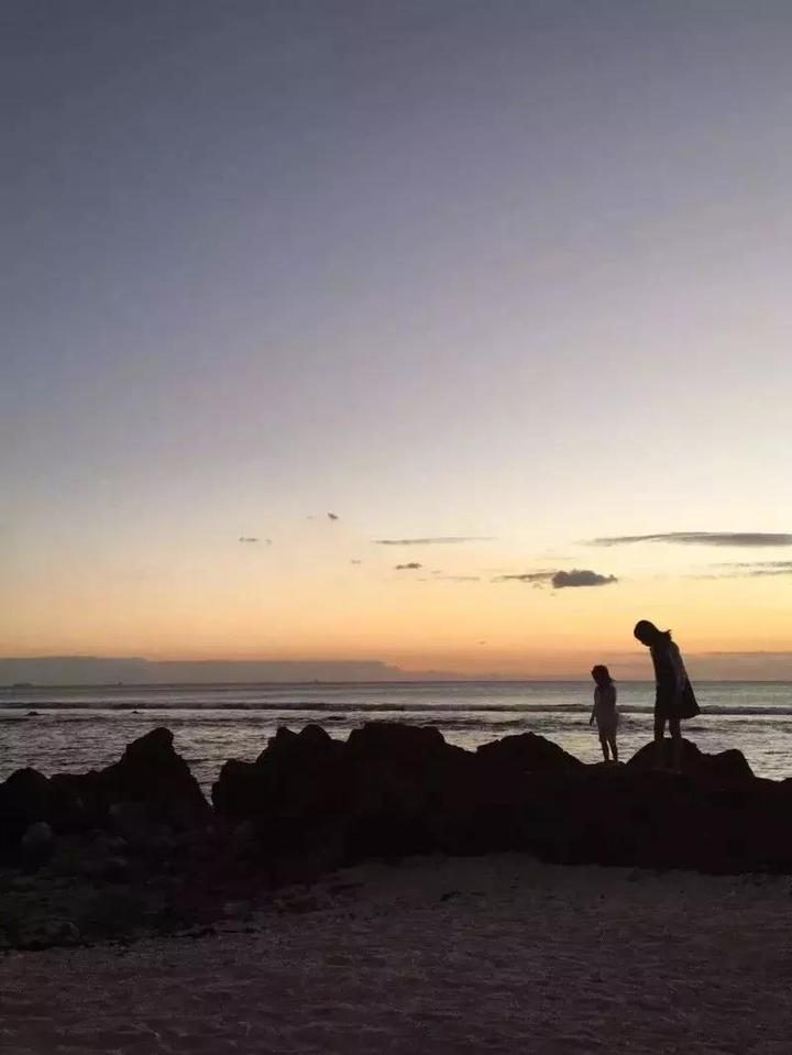 迪拜海边风景照图片