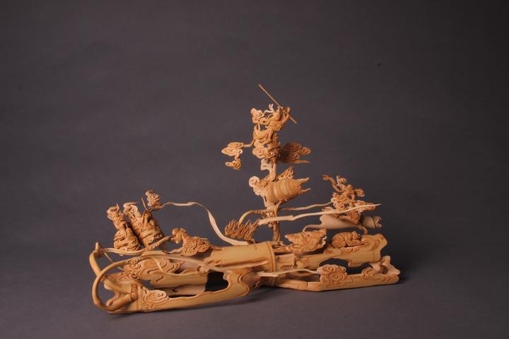 竹上生花 裂变邀神 周桂新竹根雕艺术展在杭州举行