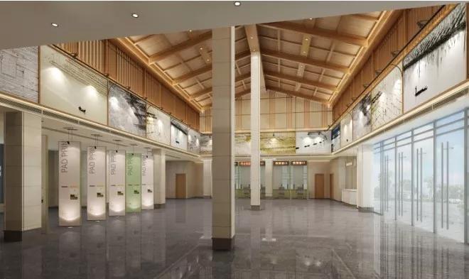 美的离谱!玉苍山旅游集散中心室内装修设计通过审查