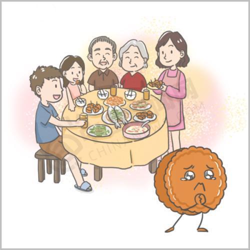 没有孤伶伶的独在异乡为异客,有的只是一家人团团圆圆坐在一起,有一桌