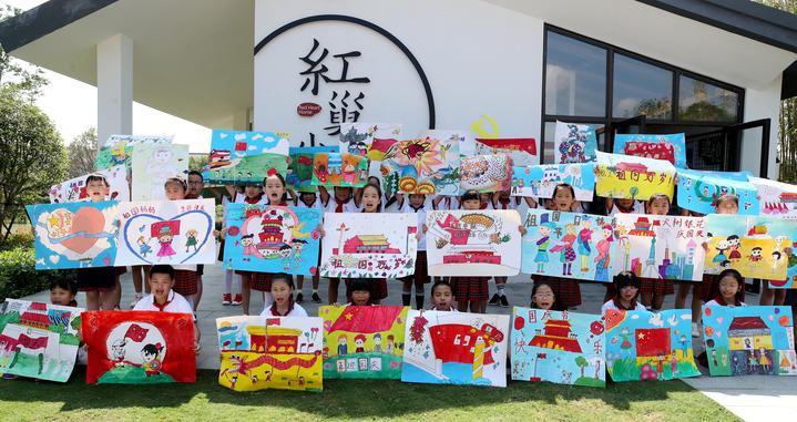 发挥想象力 德清学生童心巧手绘祖国