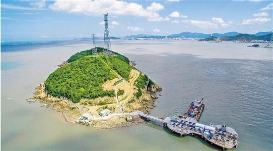 位于浙江舟山南部海域两座小岛之间的lhd海洋潮流能发电项目 资料图