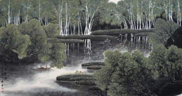 人文 > 北国风之江情,王晓峰中国画包容万物山水气象  杭州风景如画