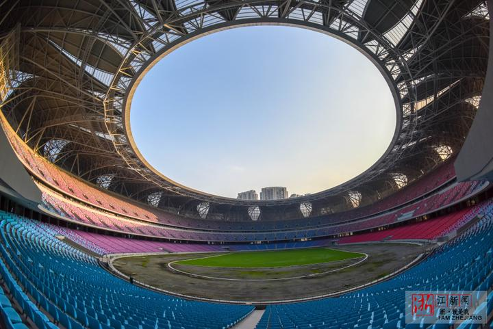 杭州体育馆_杭州奥体中心主体育场内景.