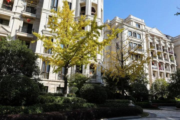 小区整体建筑以欧式风格为主,植有香樟,广玉兰,桂花,银杏等百余种乔