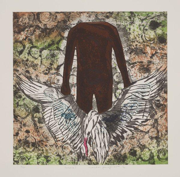 子_以湖为意象 日本静冈艺术家柳泽纪子版画作品在浙展出