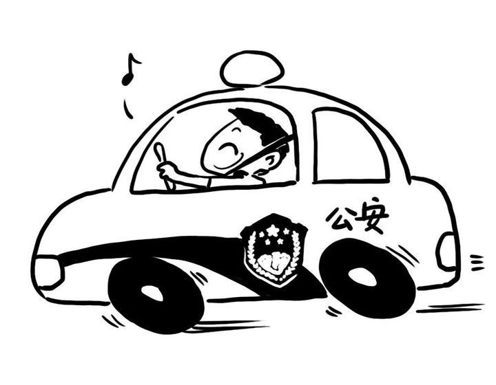 妈妈开车简笔画