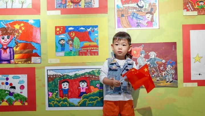 """【我和我的祖国】义乌统战举办港澳台侨少年儿童""""我和图片"""