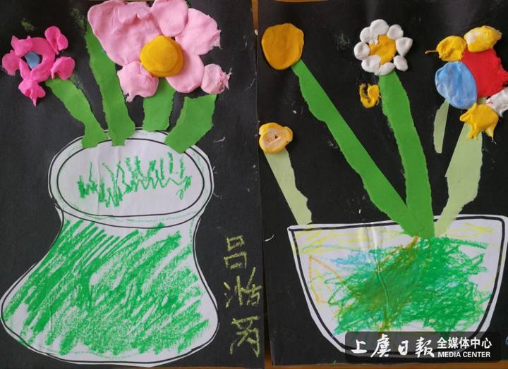 鹤琴幼儿园小小班开展创意美工班活动