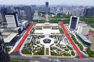 杭州武林广场上诞生半世纪的两条路 终于有了大名