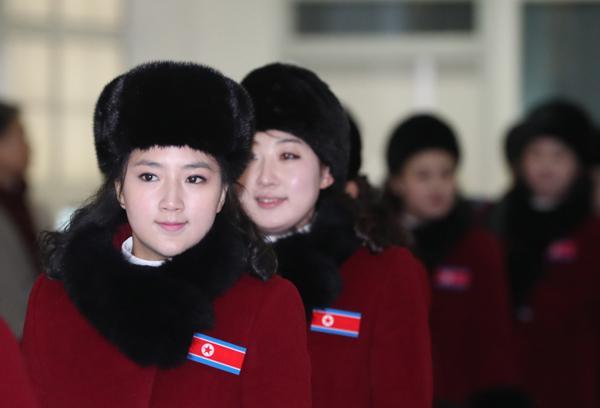 朝鲜拉拉队时隔13年后再次亮相韩国