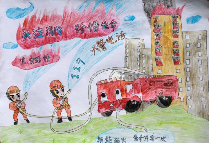 东关街道小学举行儿童消防安全主题绘画比赛活