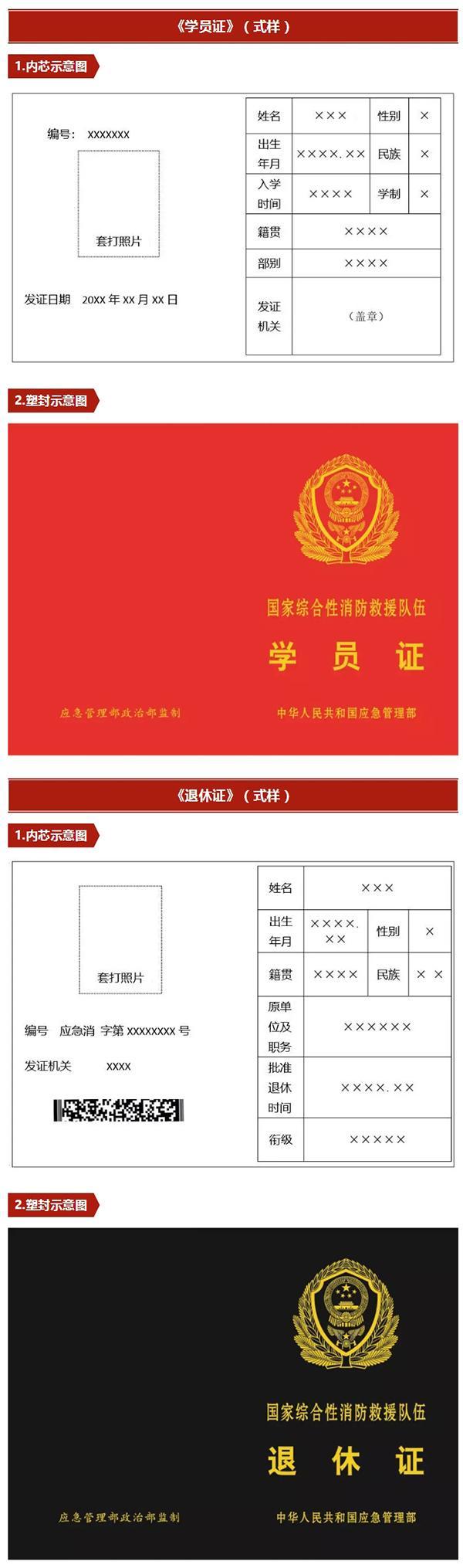 应急管理部:国家综合性消防救援队伍人员证2月1日启用