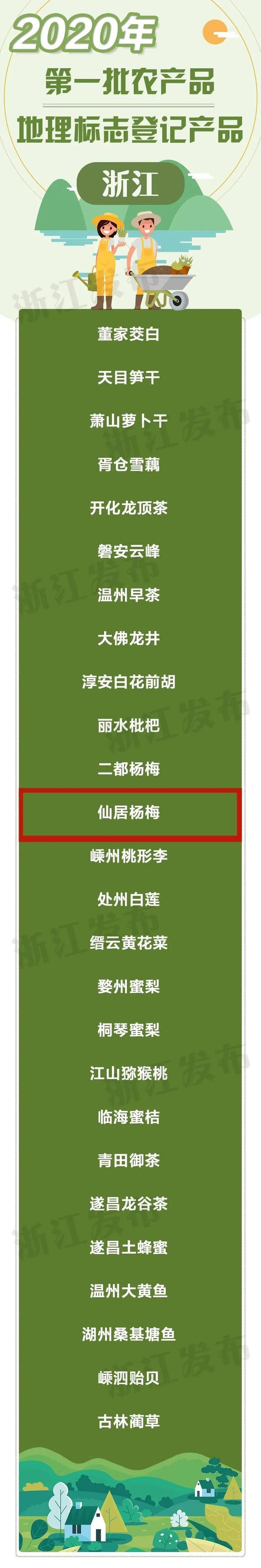 重磅丨仙居杨梅获国家认证,6月,我们在仙居等你呦!